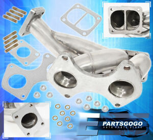 93 96 Mazda Rx 7 Rx7 Fd3s Fd 13b rew T4 T04 Exhaust Turbo Manifold Stainless