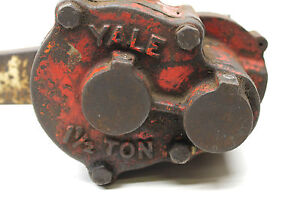 Yale Hand Lever Chain Hoist 1 1 2 Ton Pul lift Ratchet Lever Come Along Made Usa