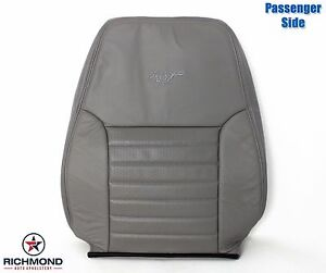 2003 2004 Ford Mustang Gt V8 Passenger Side Lean Back Leather Seat Cover Gray