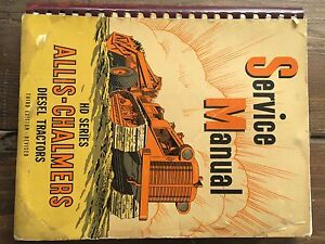 Allis Chalmers Hd7 Hd10 Hd14 Crawler Service Manual From 1946