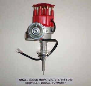 Mopar Small Block 273 318 340 360 Red Small Cap Hei Distributor Ready to run