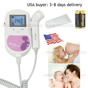 Ce fda Fetal Heart Doppler backlight Lcd 3mhz With Gel battery us Seller