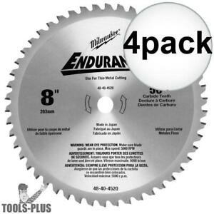 Milwaukee 48 40 4520 4pk 8 X 50t Circular Saw Blade New