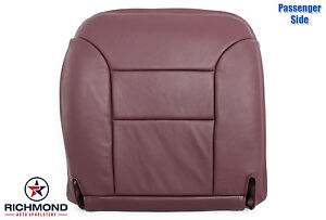95 99 Chevy Tahoe Sport 2 door Lifted Lt passenger Bottom Leather Seat Cover Red