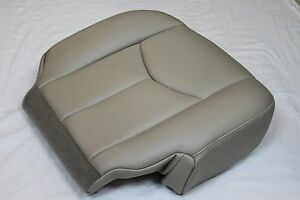 2003 2004 2005 2006 Chevy Tahoe Suburban Bottom Leather Seat Cover Tan passenger