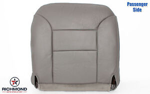95 99 Chevy Suburban Tahoe Diesel Passenger Side Bottom Leather Seat Cover Gray