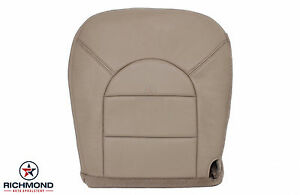 2000 Ford F250 F350 Lariat driver Side Bottom Replacement Leather Seat Cover Tan