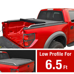 Premium Low Profile Roll Up Tonneau Cover Fits 2009 2019 Ford F150 6 5ft Bed