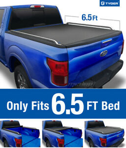 Tyger T2 Roll Up Low Profile Tonneau Cover Fits 2009 2019 Ford F150 6 5ft Bed