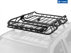 Tyger Heavy Duty Roof Top Cargo Basket Luggage Carrier Rack 47 X37 X6