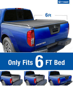 For 2005 2019 Nissan Frontier 6 Bed Tyger T2 Roll Up Low Profile Tonneau Cover