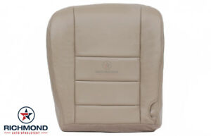2005 Ford Excursion Limited Driver Side Bottom Leather Seat Cover Tan