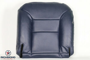 95 99 Chevy Suburban Tahoe 2500 Lt Ls driver Side Bottom Leather Seat Cover Blue