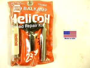 Helicoil Brand Thread Repair Kit 7 16 14 Pkg D For Napa Part 770 3047 New