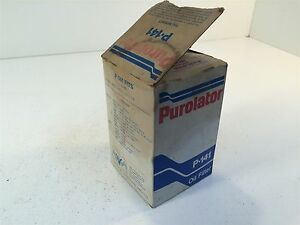 Vintage Purolator P 141 Oil Filter Made In Usa P141