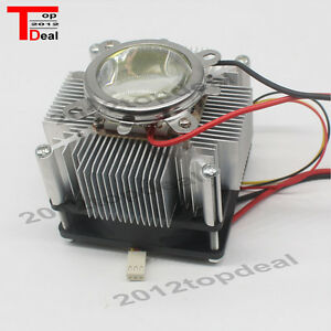 100w Led Aluminium Heat Sink Cooling Fan 60 44mm Lens Reflector Brack