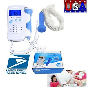 Fda Fetal Doppler Baby Heart Rate Lcd Backlight Monitor 3mhz 2 5 Days Delivery