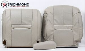 99 00 Cadillac Escalade Driver Side Complete Replacement Leather Seat Covers Tan