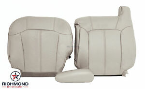 2002 Chevy Tahoe Z71 Driver Side Complete Replacement Leather Seat Covers Tan