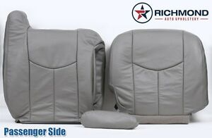 03 04 05 06 Chevy Avalanche 2500 Passenger Complete Leather Seat Covers Gray