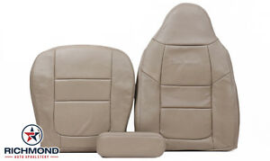 2001 Ford F250 F350 Lariat 4x4 complete Driver Side Leather Seat Covers Tan