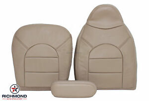 2000 Ford F250 Lariat complete Driver Side Replacement Leather Seat Covers Tan