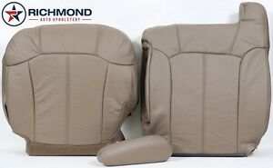 2002 Chevy Silverado driver Side Complete Replacement Leather Seat Covers Tan