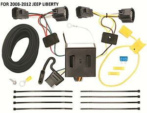 2008 2012 Jeep Liberty Trailer Hitch Wiring Kit Harness Plug Play Direct T One