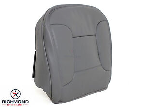 92 96 Ford Bronco Xlt With Leather Driver Bottom Replacement Leather Seat Gray