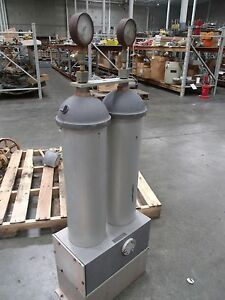 Dual Pneumatic Air Tank Flair Kp 35 With 2 Norgren Quietaire Units