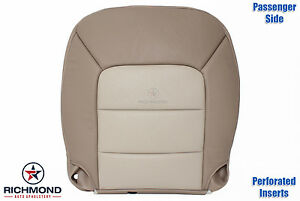 03 06 Expedition Eddie Bauer Passenger Side Bottom Perforated Leather Seat Cover