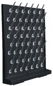 Laboratory Drying Rack Peg Board Rack Polypropylene 52 Holders Complete Kit