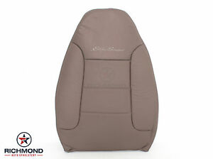 1992 Ford Bronco Eddie Bauer driver Lean Back Perforated Leather Seat Cover Tan