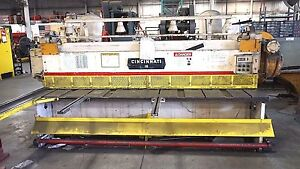 Cincinnati Model 1810 Shear 1 4 X 10ft Front Arm Support Powered Backgauge