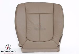 2009 2010 Ford F150 Lariat driver Side Bottom Replacement Leather Seat Cover Tan