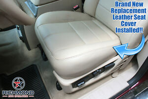 2008 2010 Ford F250 Lariat Quad cab driver Side Bottom Leather Seat Cover Tan