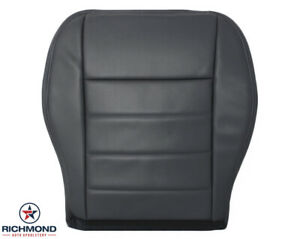 2009 Dodge Charger Hemi 5 7l V8 driver Side Bottom Leather Seat Cover Dark Gray