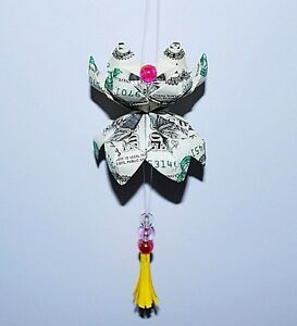 Car Hanging Accessories Rear View Mirror Ornament Decoration Money Origami