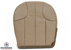 2000 Jeep Grand Cherokee Laredo Driver Side Bottom Leather Seat Cover Tan
