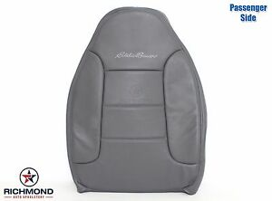 1993 1994 Ford Bronco Eddie Bauer Passenger Lean Back Leather Seat Cover Gray