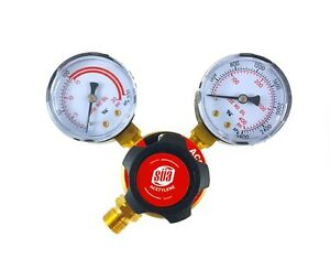 S a Acetylene Regulator Welding Gas Gauges Cga 200 Rear Connector Ldp