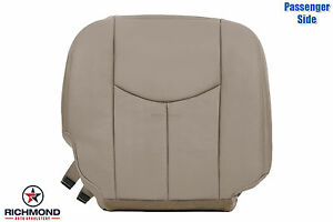 03 07 Chevy Silverado Passenger Side Bottom Replacement Leather Seat Cover Tan