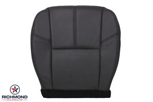 2009 Chevy Silverado 1500 2500hd Lt driver Side Bottom Leather Seat Cover Black
