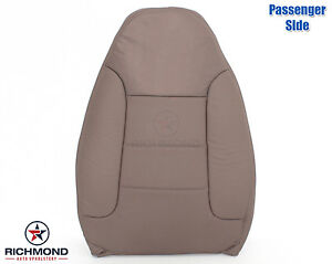 92 96 Ford Bronco Xlt Passenger Side Lean Back Perforated Leather Seat Cover Tan