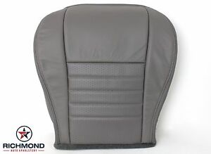 2003 2004 Ford Mustang Gt Convertible V8 Driver Bottom Leather Seat Cover Gray