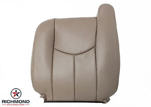 2003 2007 Chevy Silverado Work Truck Driver Lean Back Vinyl Seat Cover Tan