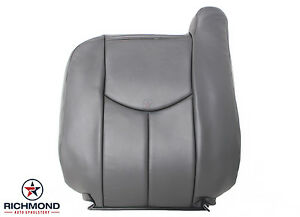 2003 2007 Chevy Silverado Work Truck Driver Lean Back Vinyl Seat Cover Dk Gray