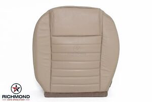 2005 2009 Ford Mustang V8 Driver Side Bottom Replacement Leather Seat Cover Tan