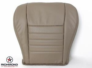 1999 2004 Ford Mustang Saleen S281 V8 Gt driver Bottom Leather Seat Cover Tan