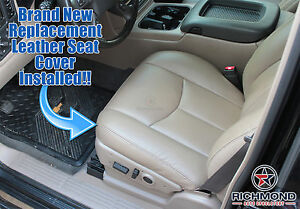 2006 Chevy Silverado 1500 2500 Hd Lt Driver Side Bottom Leather Seat Cover Tan